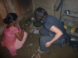 Cooking dinner in Nepal